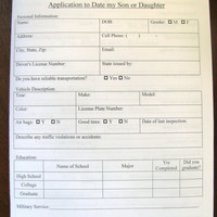 Application to date my son or daughter- overprotective parent syndrome- gag gift
