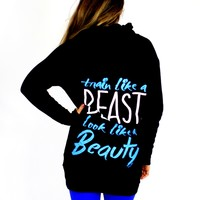 Train Like a Beast Long Hoodie