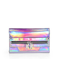 Milly - Demi Hologram Leather Clutch
