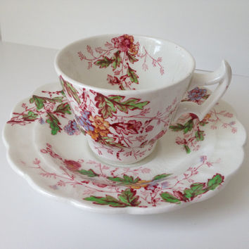 Booths of England Demitasse Cup Washington Pattern Floral Pattern 1949
