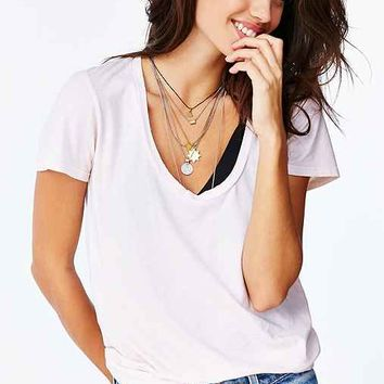 Truly Madly Deeply Naomi Scoop Neck Tee