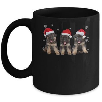 DCKIJ3 Funny German Shepherd Puppies Christmas Dog Gift Mug