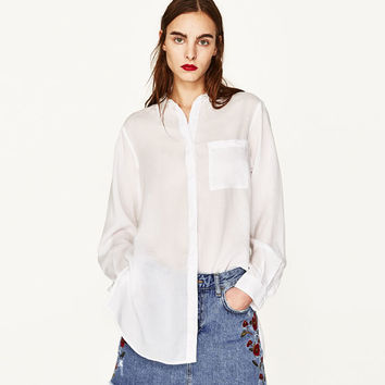 OVERSIZED SHIRT WITH VENTS DETAILS