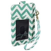 Merona® Chevron Credit Card Wallet with Removable Wristlet Strap - Green/White