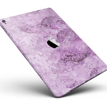 "Purple Damask v2 Watercolor Pattern V3 Full Body Skin for the iPad Pro (12.9"" or 9.7"" available)"