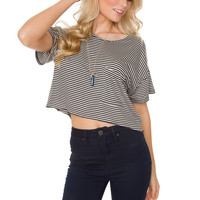 Dorothy Oversized Stripe Crop Top