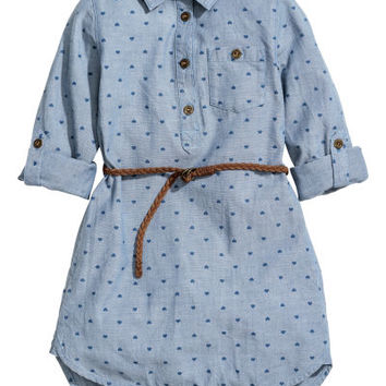 Shirt Dress with Belt - from H&M