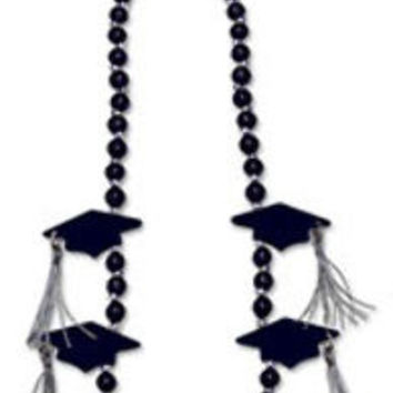 grad cap with tassel beads (black) Case of 12