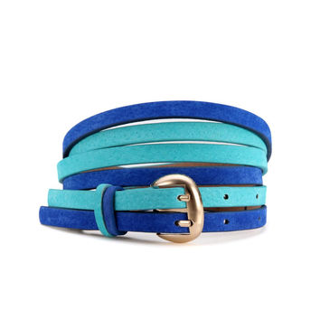 Blue Double Waist Belt
