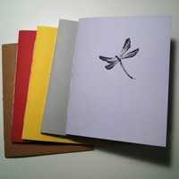 Dragonfly Notebook - journal, staple bound, multipack