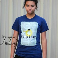 His Word Be the Light Bible Journaling Tee