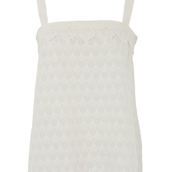 Broderie Anglaise Strappy Top by Lowie
