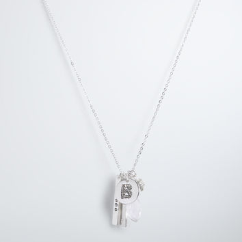 """B"" Initial Charm Necklace"