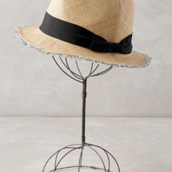 Thelma Frayed Fedora by Anthropologie in Neutral Size: One Size Hats