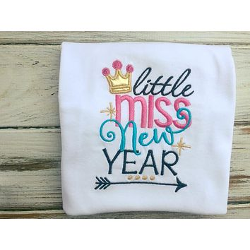 Little Miss New Year Size 2 Long Sleeve Shirt