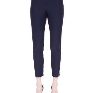 Women's Washable Stretch-Crepe Ankle Pants, Petite - Eileen Fisher - Midnight (PL (14/16))