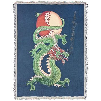 Grateful Dead - Lightning Bolt Dragon SYF Throw Blanket