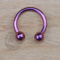Purple Steel Horseshoe