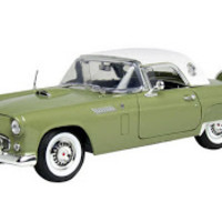Diecast Toy Car: MOTORMAX 1:18 1956 FORD THUNDERBIRD WITH HARD TOP