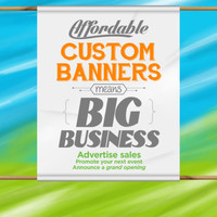 6' x 2' Custom Indoor Banners Full Color Matte Finish for Party Decor Displays