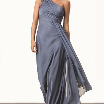 JS Collections - 862314 One-Shoulder Ruched Evening Gown