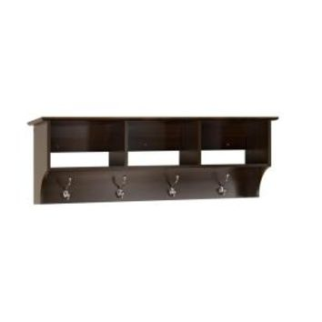 Prepac Fremont Wall-Mounted Coat Rack in Espresso EEC-4816 at The Home Depot - Mobile