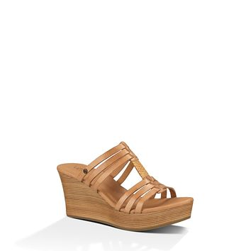 UGG MATTIE WEDGE IN SUNTAN