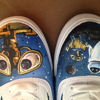 Women's Hand Painted Disney WALLE Shoes Brand new on by CurtzGoods