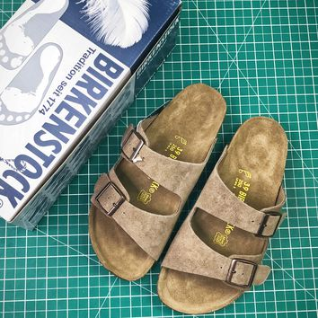 Birkenstock Arizona Soft Footbed Suede Leather Stones Sandals - Best Online Sale