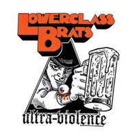 Lower Class Brats Men's Ultra Violence Cloth Back Patch White