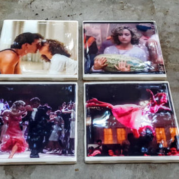 Tile Coasters Dirty Dancing Jennifer Grey Patrick Swayze 80s Cult Classic Movie