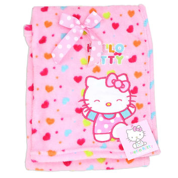 "HELLO KITTY GIRLS PLUSH BABY 30""X40"" BLANKET"