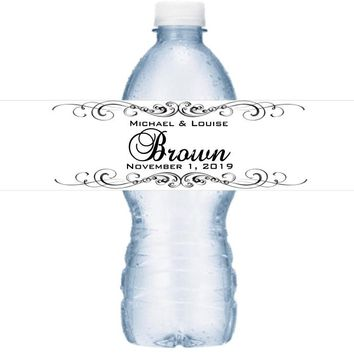 21 Black and White Wedding Water Bottle Labels