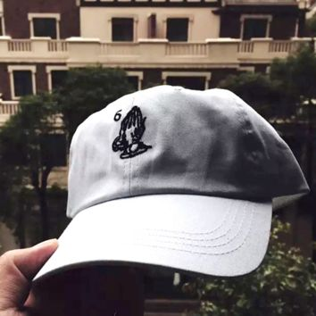 Drake 6 God Ball Hat Embroidered Praying Hands