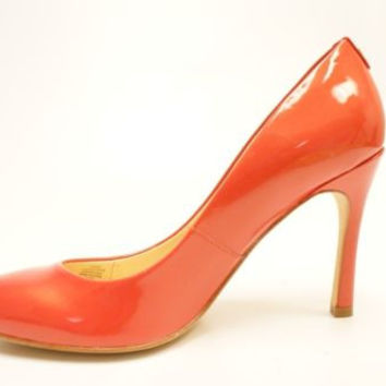 Ivanka Ttrump Janie Coral Patent Leather Rounded Toe Pump Women's Size 8.5M