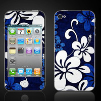 Hibiscus Blue Hawaiian Flower  Apple iPhone 4 4S  by ItsASkin