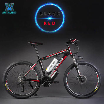26-inch aluminum alloy oil brake 27-speed electric mountain bike  500W motor-assisted