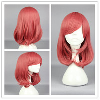 44cm Synthetic Pretty Cosplay Love Live-Nishikino Maki Long Pink Anime Wig,Colorful Candy Colored synthetic Hair Extension Hair piece 1pcs WIG-560D