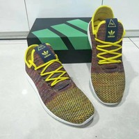 """Adidas NMD HU"" Men Sport Casual Fly Weave Sneakers Running Shoes"
