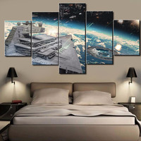 Hot Sel 5 Piece HD Printed Star Wars Cuadros Decoracion Paintings on Canvas Wall