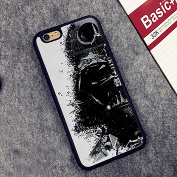 Star Wars Darth Vader Printed Soft Rubber Mobile Phone Cases For iPhone 6 6S Plus 7 7 Plus 5 5S 5C SE 4 4S Cover Skin Shell