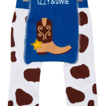 Blue and Brown Cowboy Baby Legging