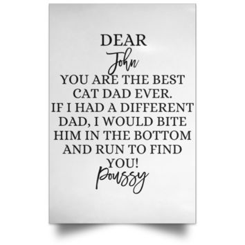 Funny Father's Day Gift For Dad From Wife, Daughter, Son, Stepdaughter, Stepson, Mom, Grandma, Mother In Law (POSPO Satin Portrait Poster)