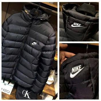 DCCKN6V NIKE' Men Fashion Long Sleeve Cardigan Bread Down Coat Cotton-padded Clothes Jacket B-ZDL-STPFYF