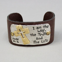 I Am The Way Brown Cuff Bracelet