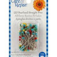 Dritz® Pearlized Straight Pins-Size 24 120/Pkg at Joann.com
