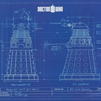 Doctor Who Dalek Blueprint Poster 24x36