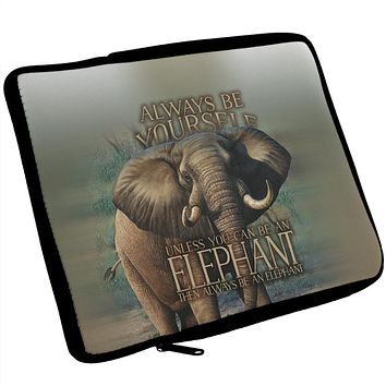 Always Be Yourself Unless Elephant iPad Tablet Sleeve
