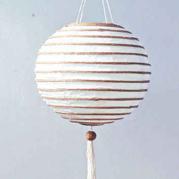 handmade white Handmade paper lantern oriental hanging ball shape eco friendly wedding bedroom living room asia home decor