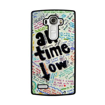 all time low colour lg g4 case cover  number 1